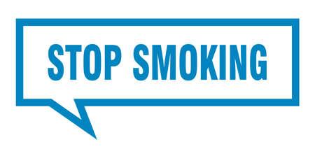 stop smoking sign. stop smoking square speech bubble. stop smoking