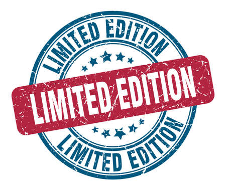 limited edition stamp. limited edition round grunge sign. limited edition Vektoros illusztráció