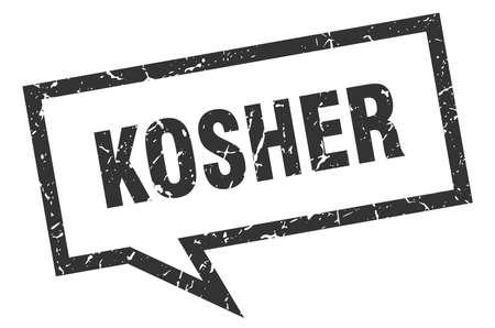 kosher sign. kosher square speech bubble. kosher