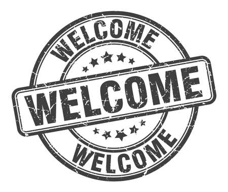 welcome stamp. welcome round grunge sign. welcome