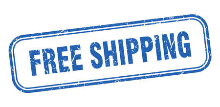 free shipping stamp. free shipping square grunge sign. free shipping