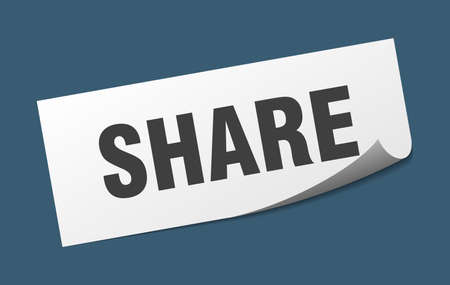 share sticker. share square isolated sign. share Ilustrace