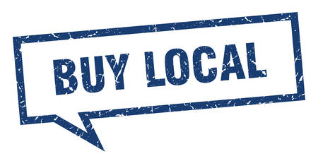 buy local sign. buy local square speech bubble. buy local