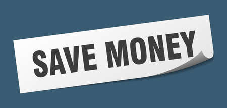 save money sticker. save money square isolated sign. save money