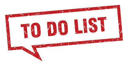to do list sign. to do list square speech bubble. to do list