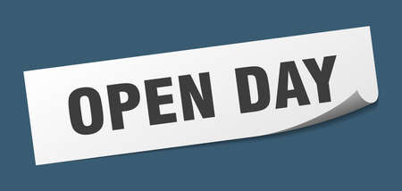 open day sticker. open day square isolated sign. open day