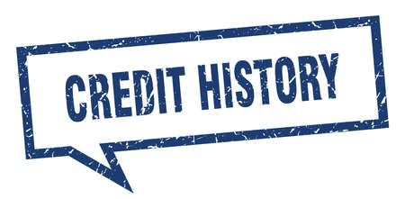 credit history sign. credit history square speech bubble. credit history