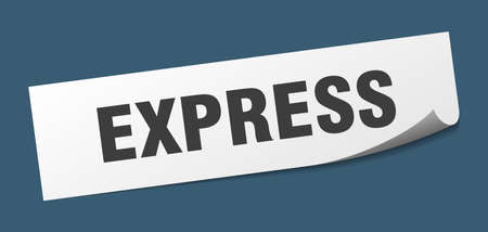 express sticker. express square isolated sign. express