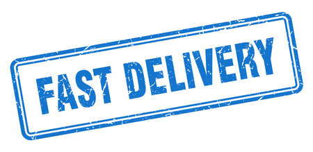 fast delivery stamp. fast delivery square grunge sign. fast delivery