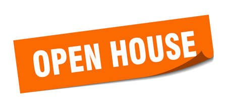 open house sticker. open house square isolated sign. open house