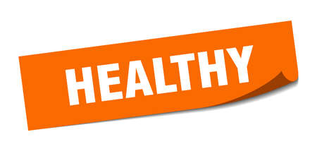 healthy sticker. healthy square isolated sign. healthy