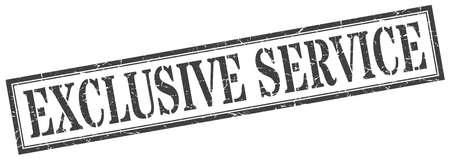 exclusive service stamp. exclusive service square grunge sign. exclusive service Illusztráció