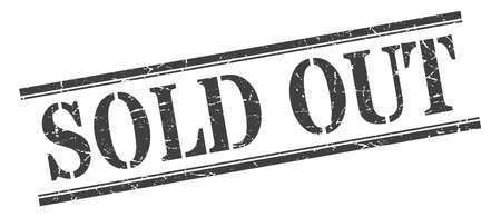 sold out stamp. sold out square grunge sign. sold out Illustration