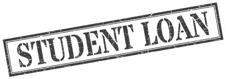 student loan stamp. student loan square grunge sign. student loan