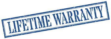 lifetime warranty stamp. lifetime warranty square grunge sign. lifetime warranty Stock Vector - 129508110