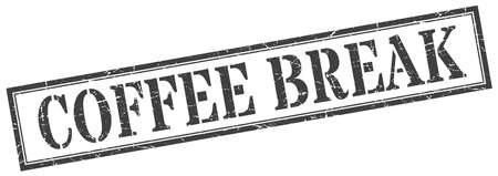 coffee break stamp. coffee break square grunge sign. coffee break