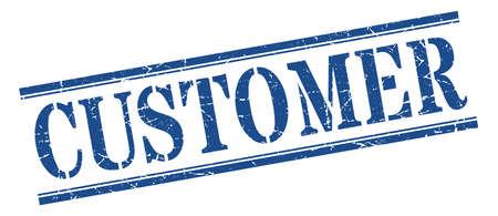 customer stamp. customer square grunge sign. customer