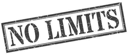 no limits stamp. no limits square grunge sign. no limits Stock fotó - 129516038