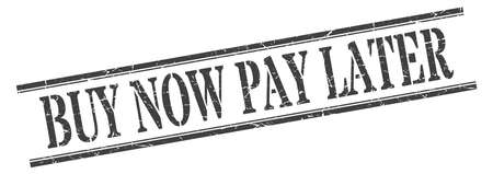 buy now pay later stamp. buy now pay later square grunge sign. buy now pay later Vetores