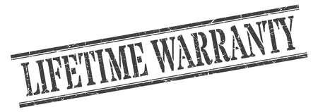 lifetime warranty stamp. lifetime warranty square grunge sign. lifetime warranty Stock Vector - 129515879
