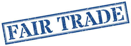 fair trade stamp. fair trade square grunge sign. fair trade Vettoriali