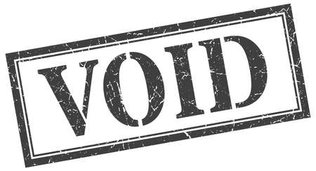 void stamp. void square grunge sign. void Illustration