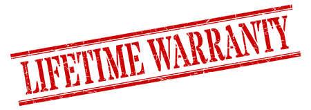 lifetime warranty stamp. lifetime warranty square grunge sign. lifetime warranty Stock Vector - 129516249