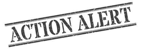action alert stamp. action alert square grunge sign. action alert
