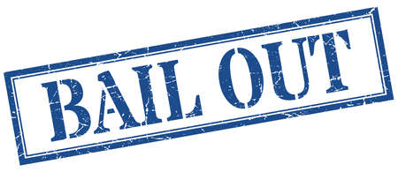 bail out stamp. bail out square grunge sign. bail out Vecteurs