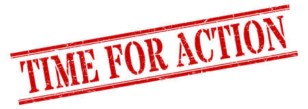 time for action stamp. time for action square grunge sign. time for action