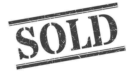 sold stamp. sold square grunge sign. sold Vektoros illusztráció