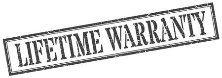 lifetime warranty stamp. lifetime warranty square grunge sign. lifetime warranty Stock Vector - 129516401