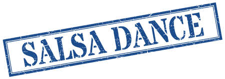salsa dance stamp. salsa dance square grunge sign. salsa dance