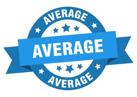 average ribbon. average round blue sign. average