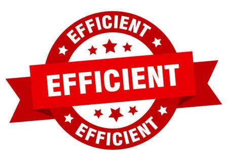 efficient ribbon. efficient round red sign. efficient Ilustración de vector