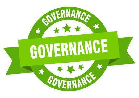 governance ribbon. governance round green sign. governance