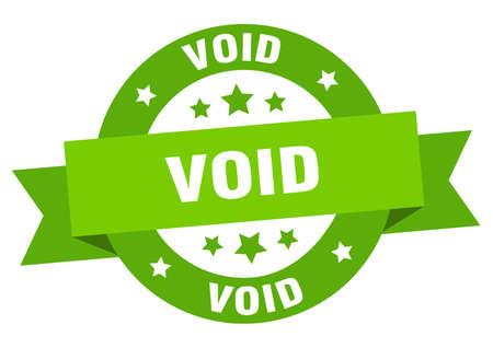 void ribbon. void round green sign. void Illustration
