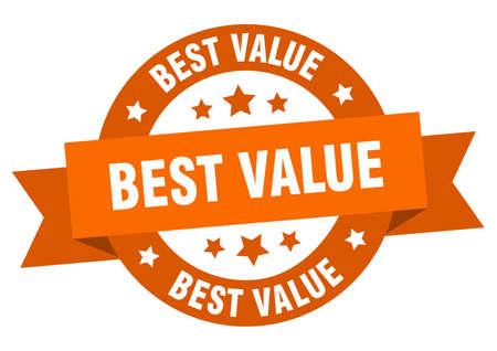 best value ribbon. best value round orange sign. best value