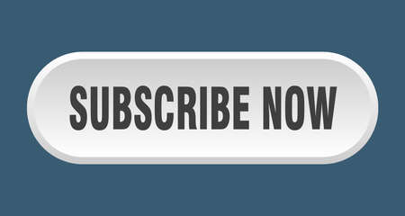subscribe now button. subscribe now rounded white sign. subscribe now
