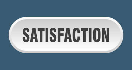 satisfaction button. satisfaction rounded white sign. satisfaction  イラスト・ベクター素材