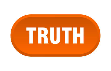 truth button. truth rounded orange sign. truth  イラスト・ベクター素材