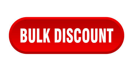 bulk discount button. bulk discount rounded red sign. bulk discount  イラスト・ベクター素材