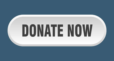 donate now button. donate now rounded white sign. donate now