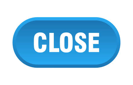 close button. close rounded blue sign. close