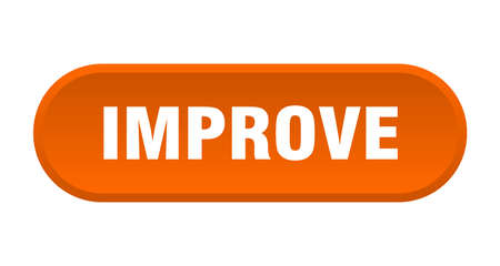 improve button. improve rounded orange sign. improve