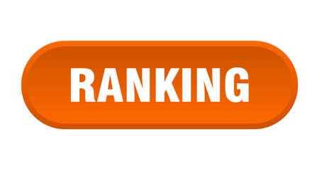 ranking button. ranking rounded orange sign. ranking 向量圖像
