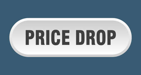 price drop button. price drop rounded white sign. price drop 向量圖像
