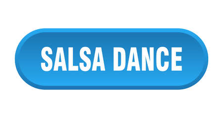 salsa dance button. salsa dance rounded blue sign. salsa dance
