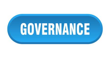 governance button. governance rounded blue sign. governance