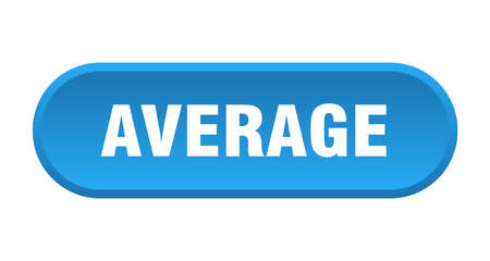 average button. average rounded blue sign. average